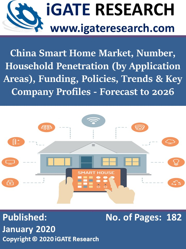 China Smart Home Market, Number, Household Penetration (by Application Areas), Funding, Policies, Trends & Key Company Profiles - Forecast to 2026