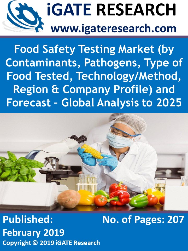 Food Safety Testing Market (by Contaminants, Pathogens, Type of Food Tested, Technology/Method, Region & Company Profile) and Forecast – Global Analysis to 2025