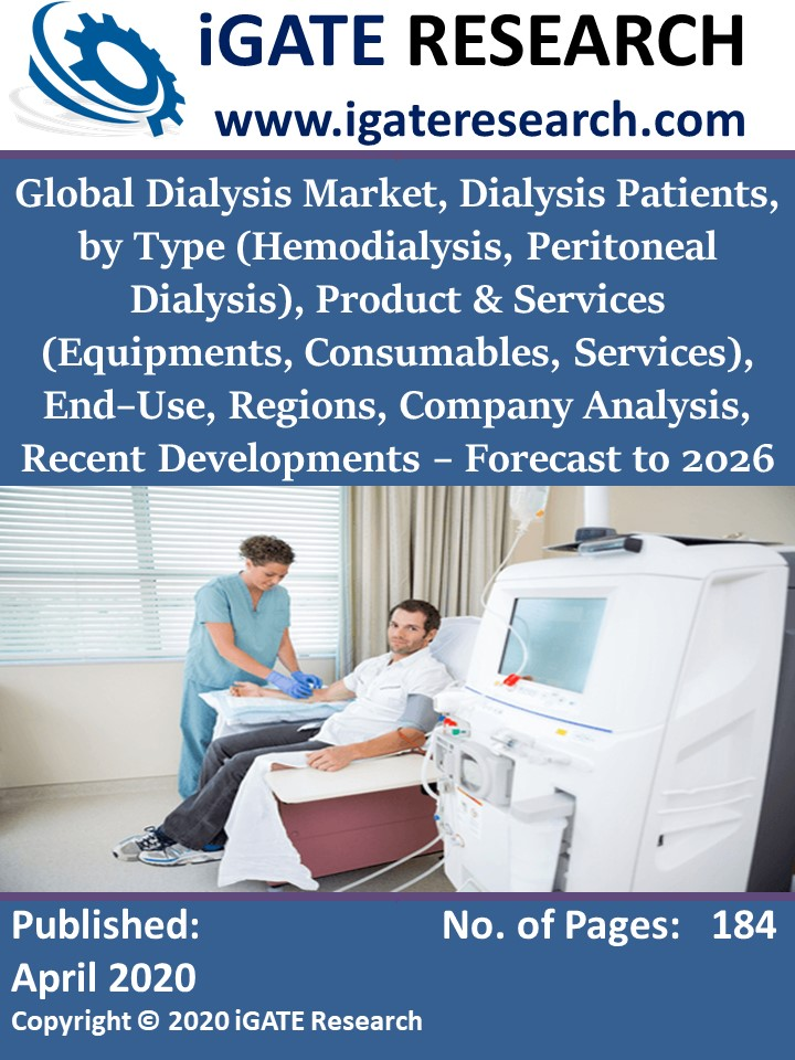 Global Dialysis Market, Dialysis Patients, by Type (Hemodialysis, Peritoneal Dialysis), Product & Services (Equipments, Consumables, Services), End–Use, Regions, Company Analysis, Recent Developments – Forecast to 2026