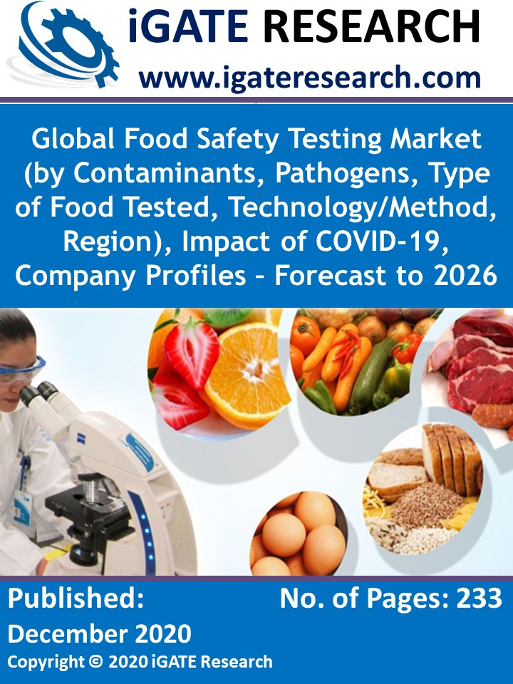 Global Food Safety Testing Market (by Contaminants, Pathogens, Type of Food Tested, Technology/Method, Region), Impact of COVID-19, Company Profiles – Forecast to 2026