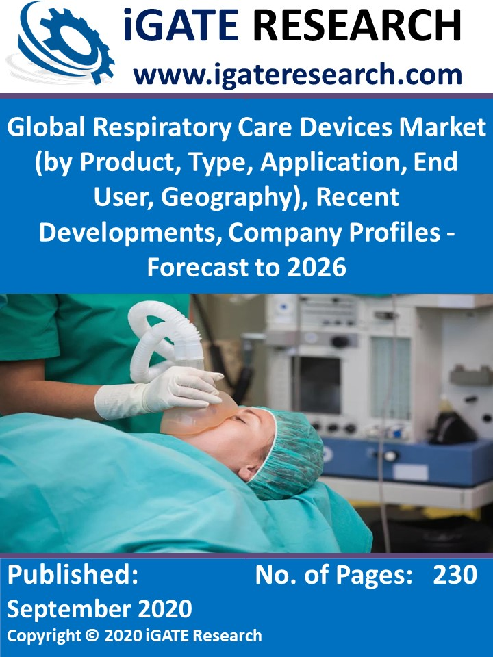 Global Respiratory Care Devices Market (by Product, Type, Application, End User, Geography), Recent Developments, Company Profiles - Forecast to 2026