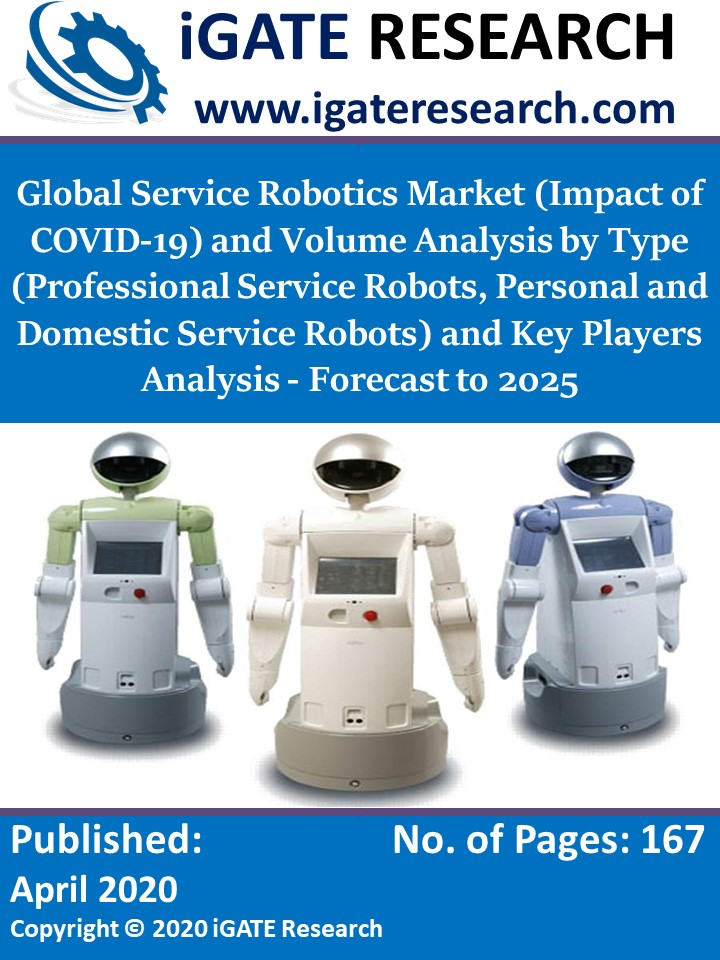 Global Service Robotics Market (Impact of COVID-19) and Volume Analysis by Type (Professional Service Robots, Personal and Domestic Service Robots) and Key Players Analysis - Forecast to 2025