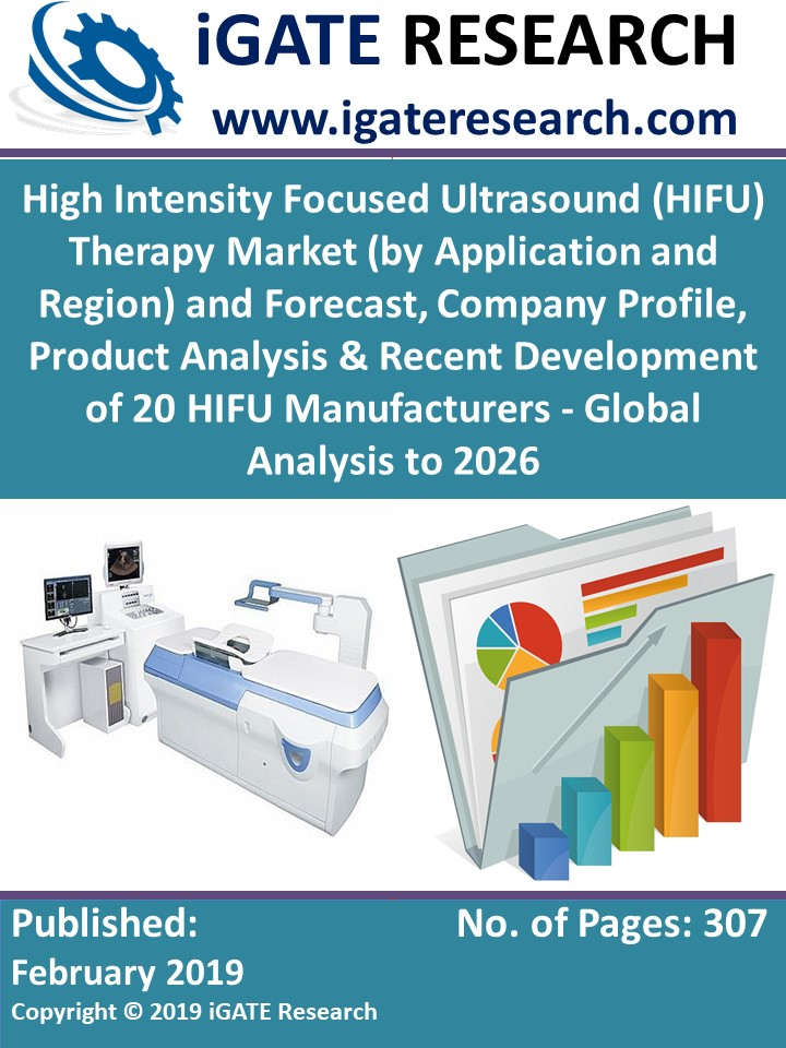 High Intensity Focused Ultrasound (HIFU) Therapy Market (by Application and Region) and Forecast, Company Profile, Product Analysis & Recent Development of 20 HIFU Manufacturers - Global Analysis to 2026