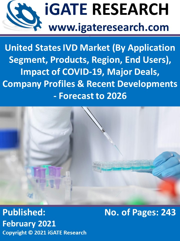 United States IVD Market (By Application Segment, Products, Region, End Users), Impact of COVID-19, Major Deals, Company Profiles & Recent Developments - Forecast to 2026